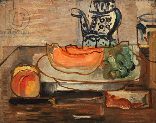 Melon and Chocolate Pot, c.1928 (oil on canvas)