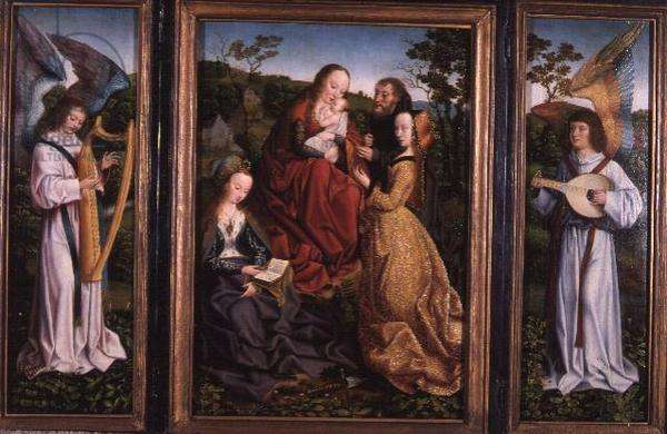 Mystic Marriage of St. Catherine with Saints and Angels, c.1500-10 (oil on panel)