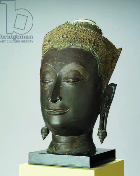Head of the Adorned Buddha, 1500 (bronze)