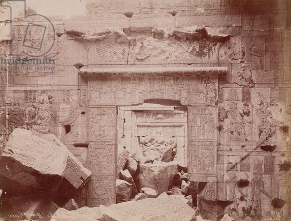 Temple of Kalabsha, 1865 (sepia photo)