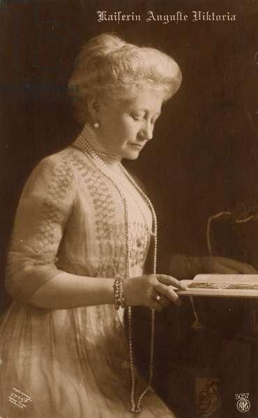 Augusta Victoria of Schleswig-Holstein (sepia photo)