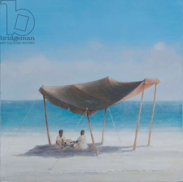 Beach Tent, 2012 (acrylic on canvas)