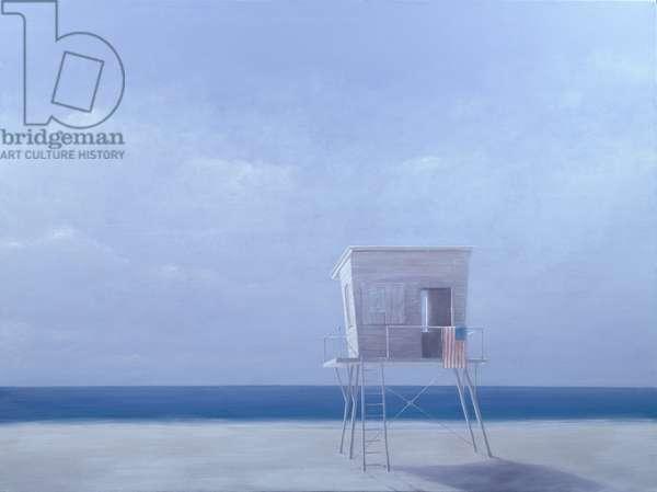 Dawn, Miami (oil on canvas)