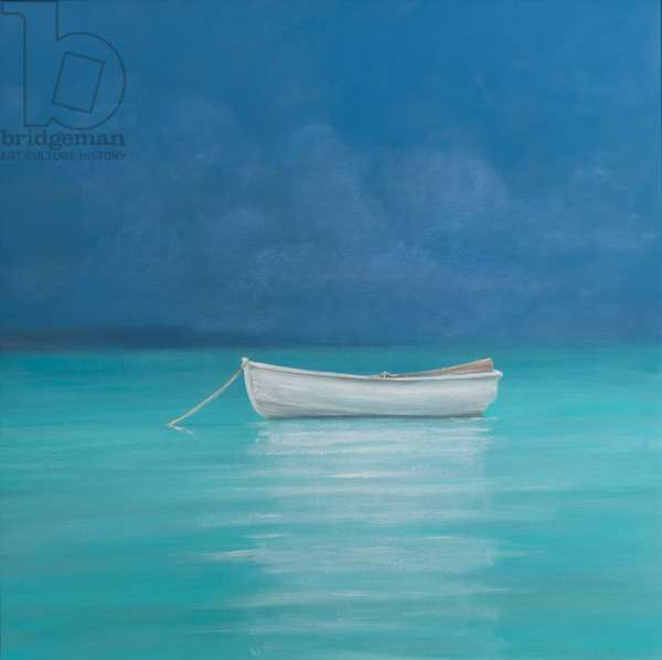 White boat, Kilifi 2012 (acrylic on canvas)