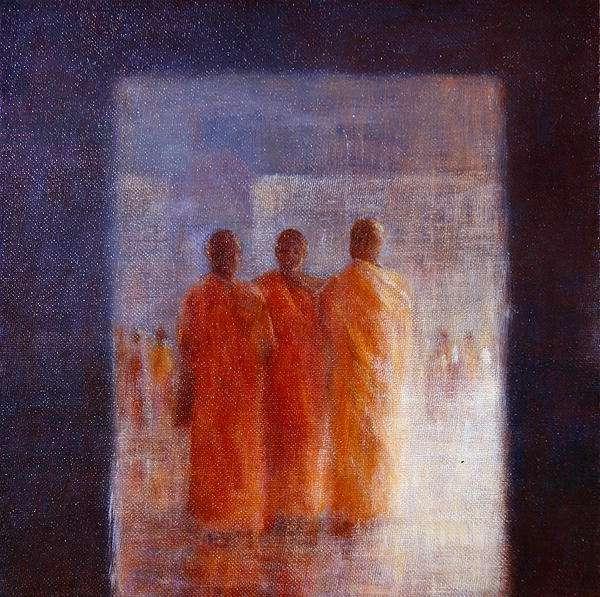Meeting Place, Hanoi (oil on canvas)