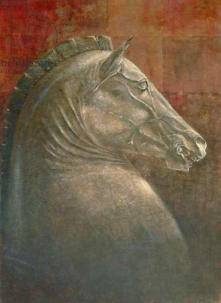 Horse's Head, 1990 (acrylic on paper)