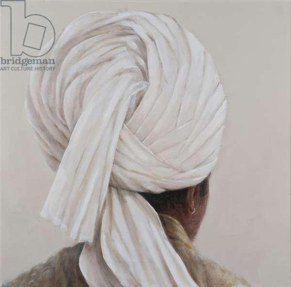 White Turban, 2014 (oil on canvas)