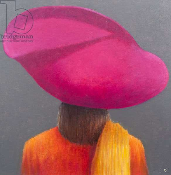 Magenta Hat, Saffron Jacket, 2014 (oil on canvas)
