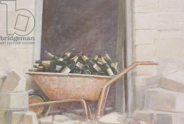 Champagne Wheelbarrow, 1985 (acrylic on canvas)