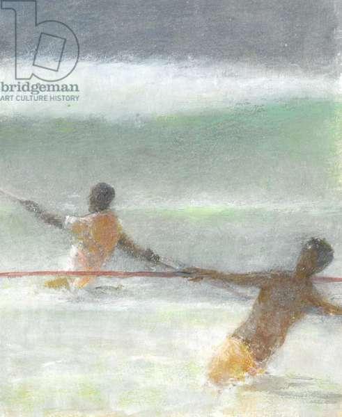 Fishermen Hauling Nets, 2015 (w/c on paper)