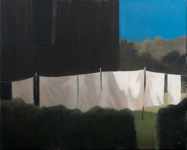 Norma's washing, 2012 (acrylic on canvas)