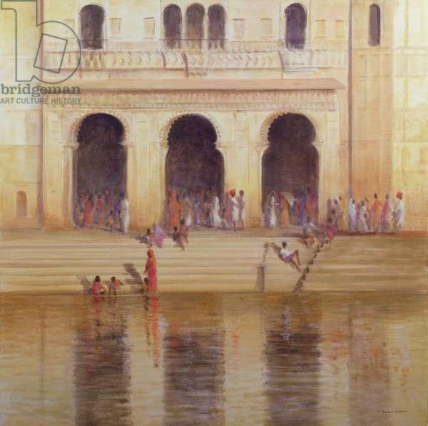 Udaipur Steps (oil on canvas)
