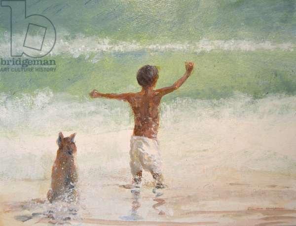 Boy and Dog, Lifeguard