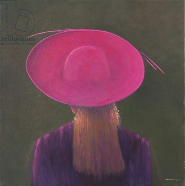 Pink Hat, 2014 (oil on canvas)