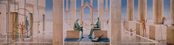 The Lightness of Banking, 1989 (acrylic on plasterboard)