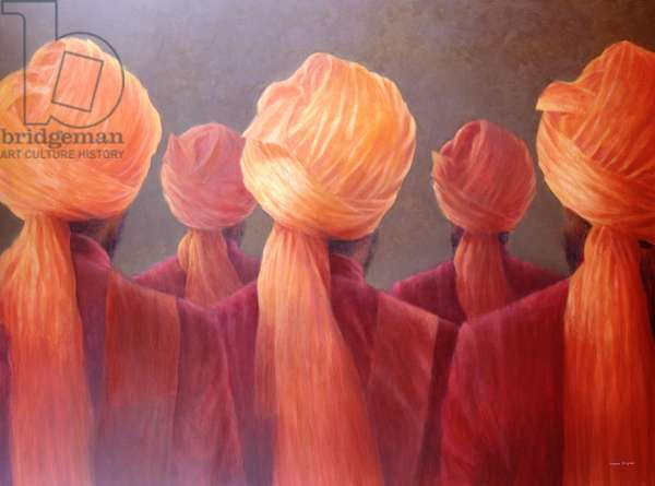 All Five Heads (oil on canvas)