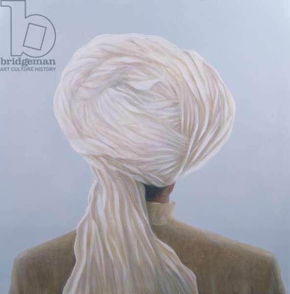 White Turban (oil on canvas)