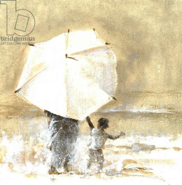 Umbrella and Child 2, 2015 (w/c on paper)
