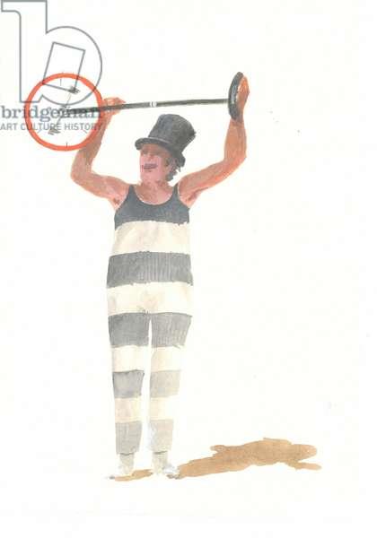 Italian Clown (acrylic on paper)