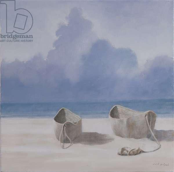 Fishermen's dugout, Kilifi, 2012 (acrylic on canvas)