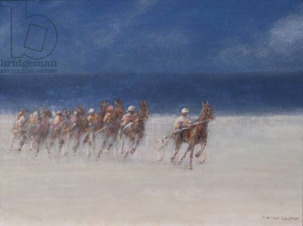 Trotting Races, Brittany, 2012 (acrylic on canvas)