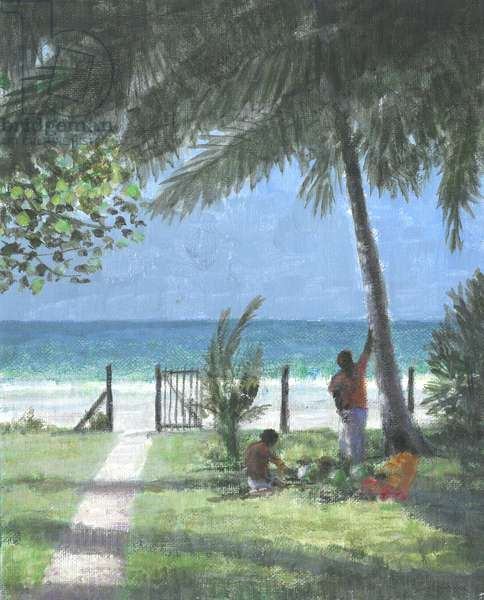 Coconut Man Calls, Sri Lanka, 2015 (acrylic on canvas)