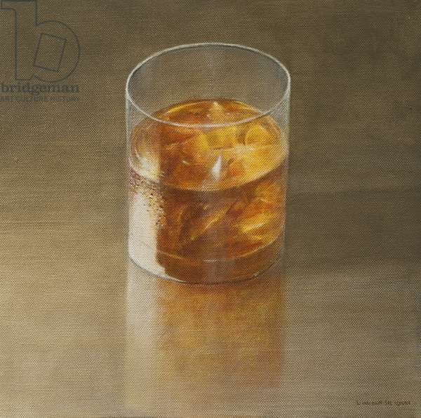 Glass of Whisky, 2010 (acrylic on canvas)