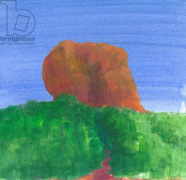 Sigiriya Rock (acrylic on paper)