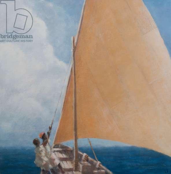 Dhow, Kilifi, 2012 (acrylic on canvas)