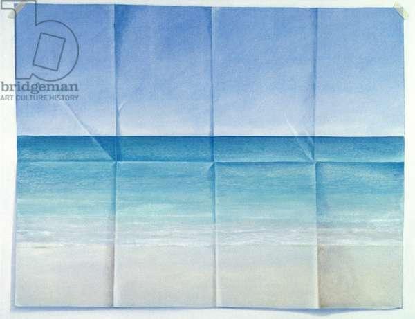 Seascape, 1984 (acrylic on canvas)