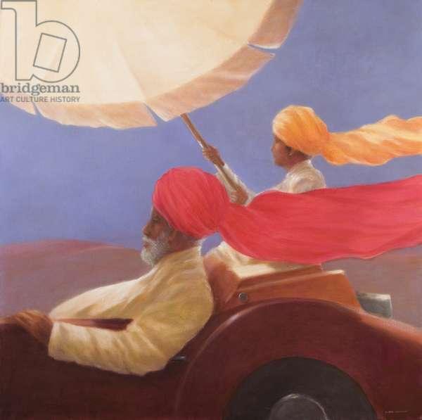 Maharaja at Speed, 2010 (acrylic on canvas)
