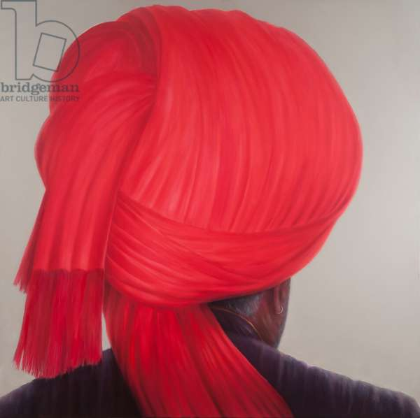 Red Turban, 2012 (acrylic on canvas)