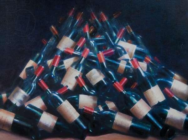 Wine Tasted, 2012 (acrylic on canvas)