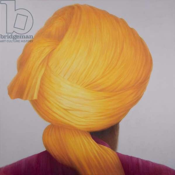 Big Saffron Turban