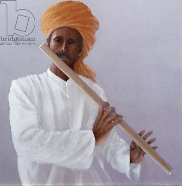 Flute Player (oil on canvas)