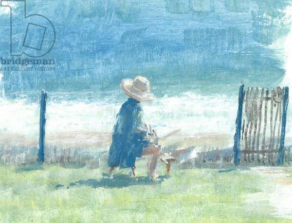 Painting the Sea (acrylic on canvas)