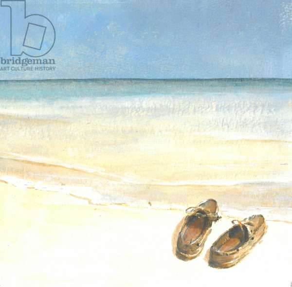 Beach Shoes, 2015 (w/c on paper)