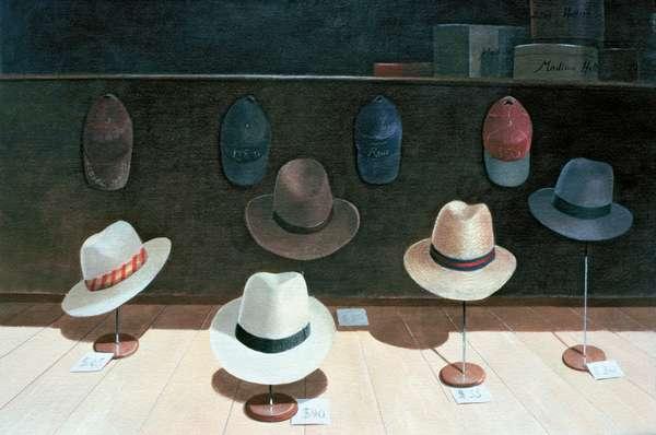 Hat Shop, 1990 (w/c on paper)