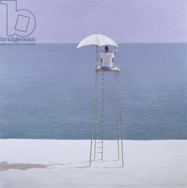 Beach guard, 2004 (acrylic on canvas)