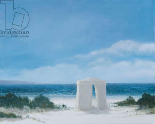 Beach Tent, 2012 (acrylic on canvas)