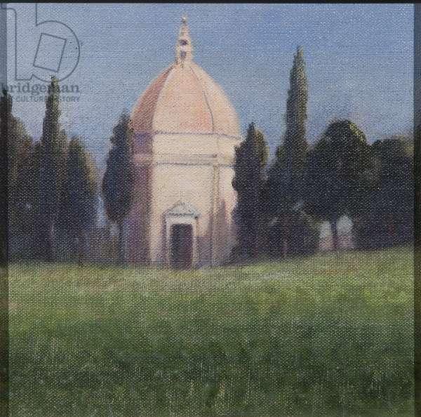 Baptistry, Tavarnelle, 2012 (acrylic on canvas)