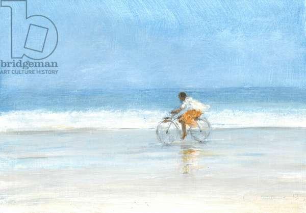 Boy on a Bike 1, 2015 (acrylic on canvas)