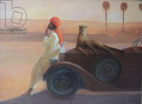 Cheetah on the Bonnet