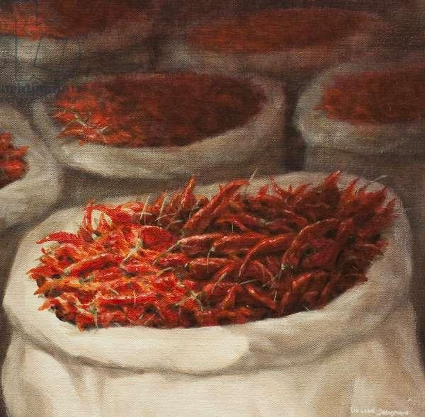 Chillis, 2010 (acrylic on canvas)