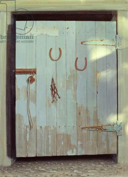 Stable Door, 1990 (acrylic on paper)