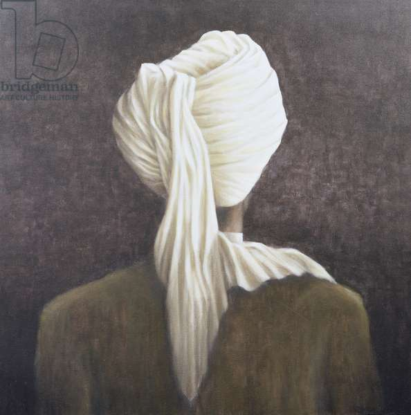White turban, 2005 (acrylic on canvas)