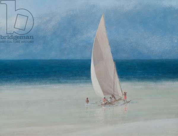 Fishermen, Kilifi, 2012 (acrylic on canvas)