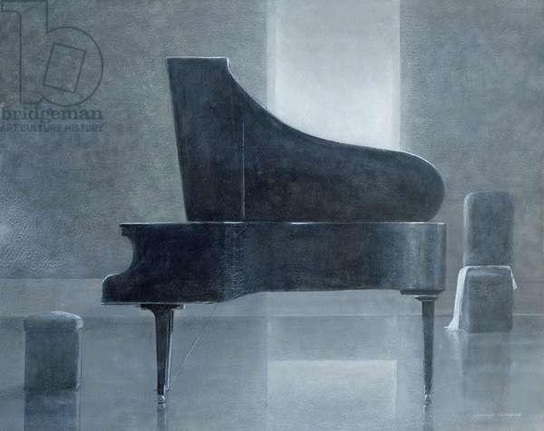 Black piano, 2004 (acrylic on paper)