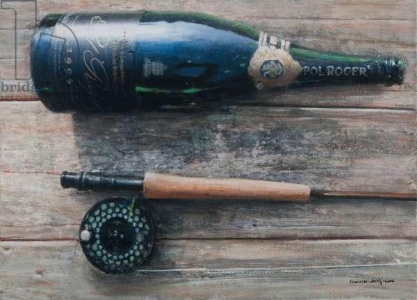 Bottle and Rod I, 2012 (acrylic on canvas)