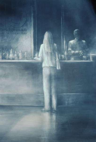 Girl in a Bar, 1995 (acrylic on paper)